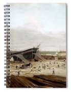 New York Shipyard, 1833 Spiral Notebook