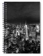 New York Skyline 3bw Spiral Notebook
