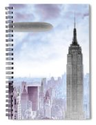New York Skyline And Blimp Spiral Notebook