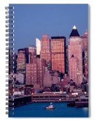 New York Skyline At Dusk Spiral Notebook