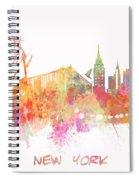 New York Skyline City Spiral Notebook