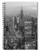 New York Skyline Panorama Bw Spiral Notebook