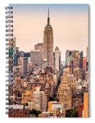 New York Skyline Panorama Spiral Notebook