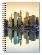 New York Skyline Sunset Spiral Notebook