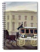 New York Stagecoach Spiral Notebook