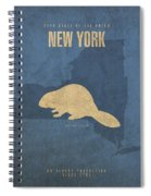 New York State Facts Minimalist Movie Poster Art  Spiral Notebook