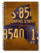 New York State License Plate Map - Empire State Orange Edition Spiral Notebook