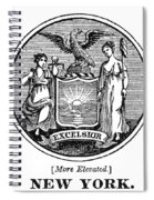 New York State Seal Spiral Notebook