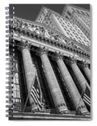 New York Stock Exchange Wall Street Nyse Bw Spiral Notebook