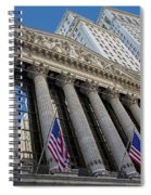 New York Stock Exchange Wall Street Nyse  Spiral Notebook