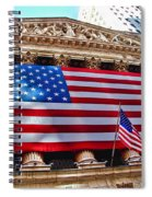 New York Stock Exchange With Us Flag Spiral Notebook