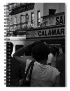 New York Street Fair - Black And White Spiral Notebook