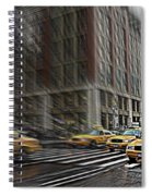New York Taxi Abstract Spiral Notebook