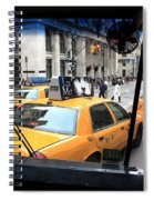 New York Taxi Cabs Spiral Notebook