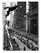 New York Ticker Tape Parade Spiral Notebook