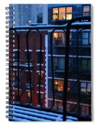 New York Window - Fire Escape In Winter Spiral Notebook