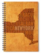 New York Word Art State Map On Canvas Spiral Notebook