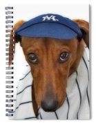 New York Yankee Hotdog Spiral Notebook