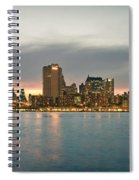 New York City - Brooklyn Bridge To Manhattan Bridge Panorama Spiral Notebook