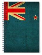 New Zealand Flag Vintage Distressed Finish Spiral Notebook