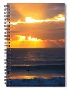 New Zealand Surfing Sunset Spiral Notebook