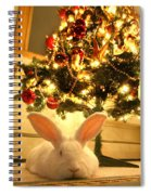New Zealand White Rabbit Under The Christmas Tree Spiral Notebook