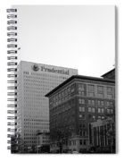 Newark  New Jersey In Black And White Spiral Notebook