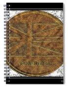 Newfoundland Flag - Brass Etching Spiral Notebook