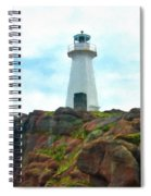 Lighthouse On Cliff Spiral Notebook