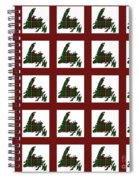 Newfoundland Tartan Map Blocks Red Trim Spiral Notebook