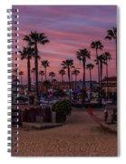 Newport Beach Sunset Spiral Notebook