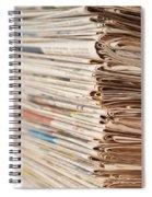 Newspaper Stack Spiral Notebook