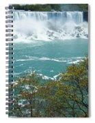 Niagara - American Falls In Spring Spiral Notebook