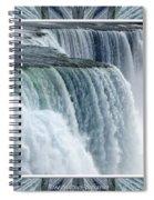 Niagara Falls American Side Closeup With Warp Frame Spiral Notebook