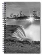Niagara Falls Black And White Starbursts Spiral Notebook