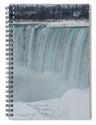 Niagara Falls Canada In Winter Spiral Notebook