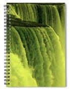 Niagara Falls Closeup Hot Wax Effect Spiral Notebook