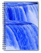 Niagara Falls Closeup In Blue Spiral Notebook