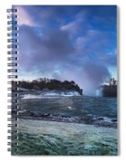 Niagara Falls Dramatic Panoramic Scenery Spiral Notebook