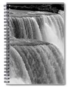 Niagara Falls In Black And White Spiral Notebook