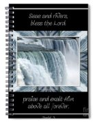 Niagara Falls Seas And Rivers Bless The Lord Praise And Exalt Him Above All Forever Spiral Notebook