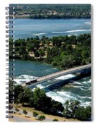 Niagara River And Goat Island Aerial View Spiral Notebook