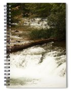 Niagra River Just Before The Falls Spiral Notebook