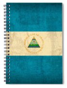 Nicaragua Flag Vintage Distressed Finish Spiral Notebook