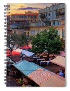 Nice Flower Market Spiral Notebook