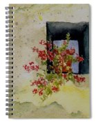 Niche With Flowers Spiral Notebook