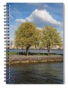 Nieuwe Maas River Waterfront In Rotterdam Spiral Notebook