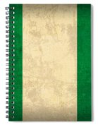 Nigeria Flag Vintage Distressed Finish Spiral Notebook