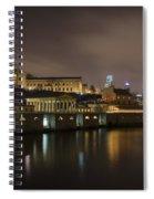 Night At Fairmount Waterworks And The Philadelphia Art Museum Spiral Notebook