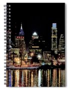 Night At Penn's Landing - Philadelphia Spiral Notebook